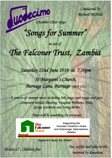 Duodecimo concert poster - St Margarets Burnage 22nd June 20191