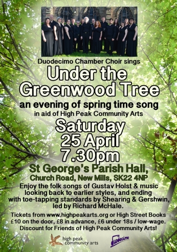 Greenwood Tree concert poster 25 april small
